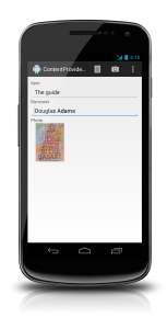 Screenshot of the sample app