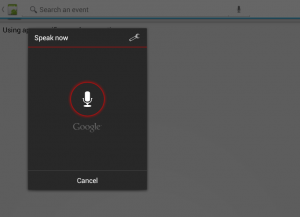 Voice search dialog
