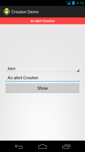 An alert Crouton