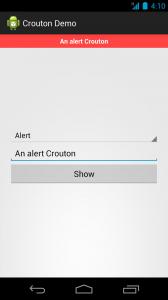 An alert Crouton