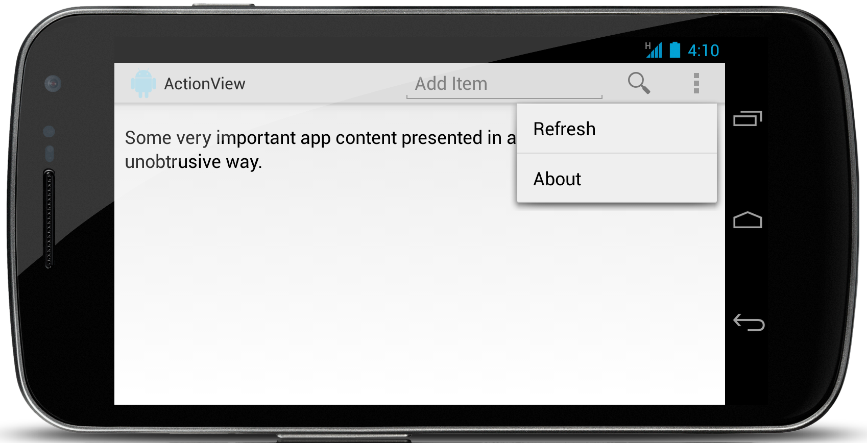 Adding ActionViews to Your ActionBar | Grokking Android