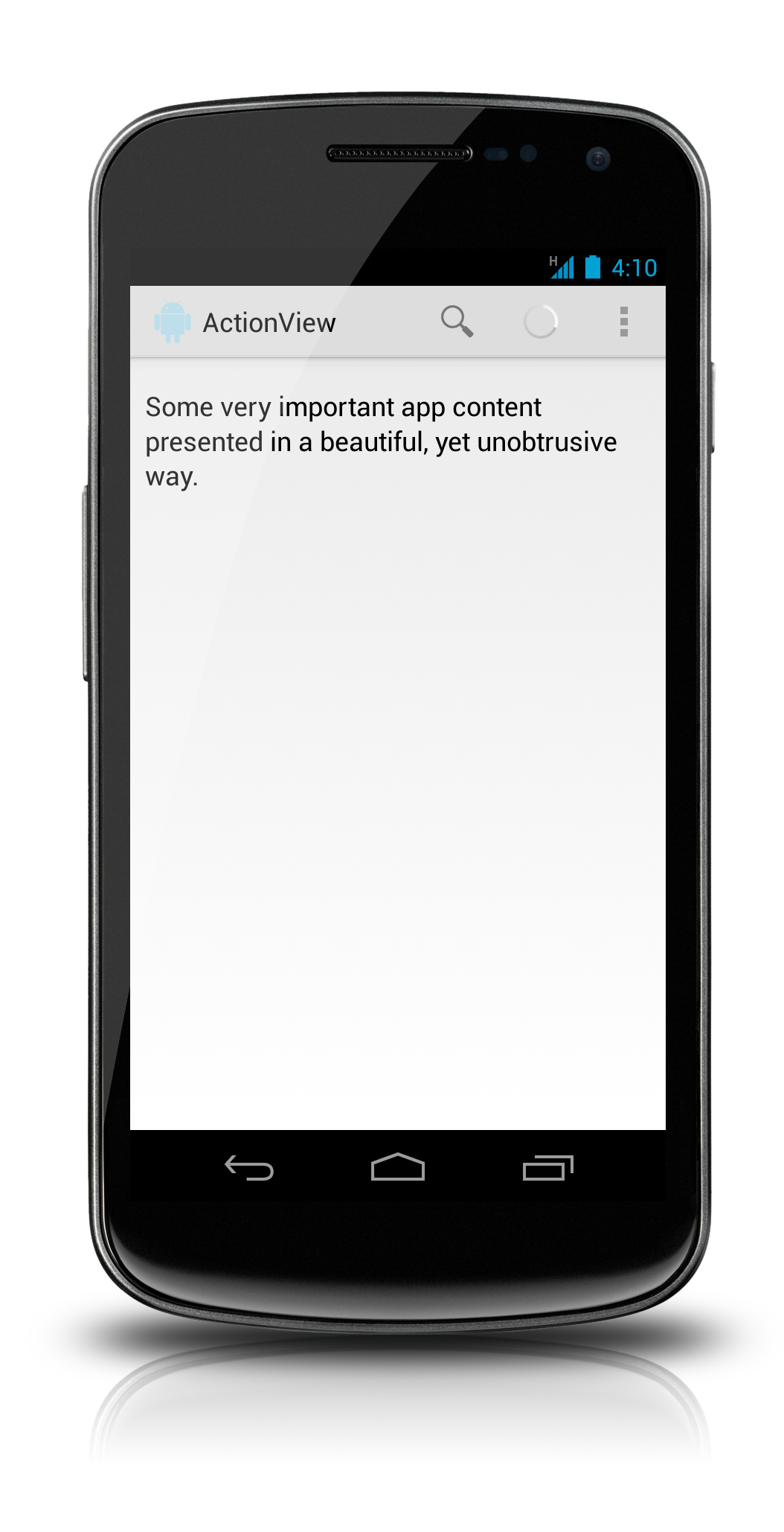 Adding ActionViews to Your ActionBar   Grokking Android