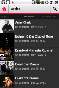 Action Bar with search on an Android 2.2 device