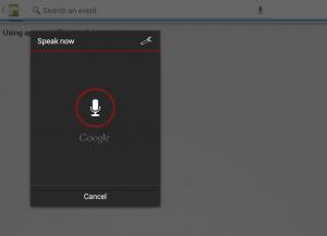 Voice search dialog