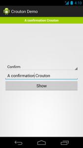 A confirmation Crouton