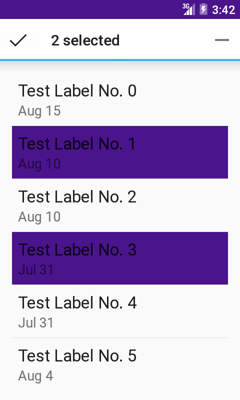 Selecting Items Of A Recyclerview Using Statelistdrawables