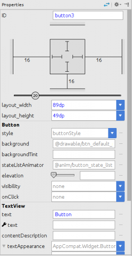 The properties pane of the new layout editor